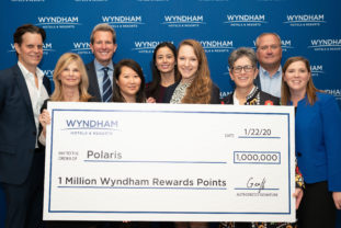 Wyndham Check Presentation to Polaris